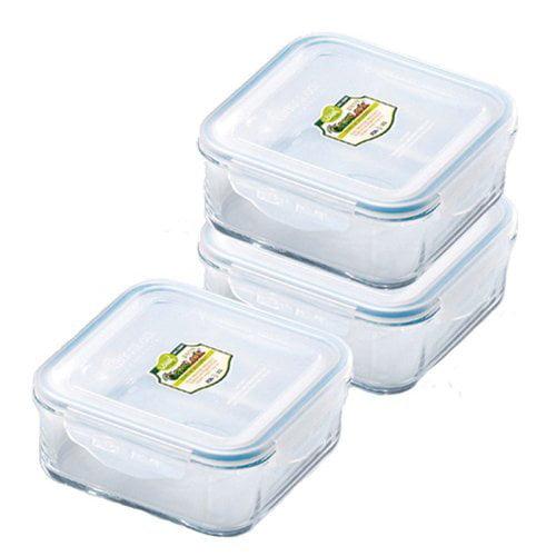 Kinetic 01331 Go Green GlassLock 6 Piece Rectangular Food Storage Set