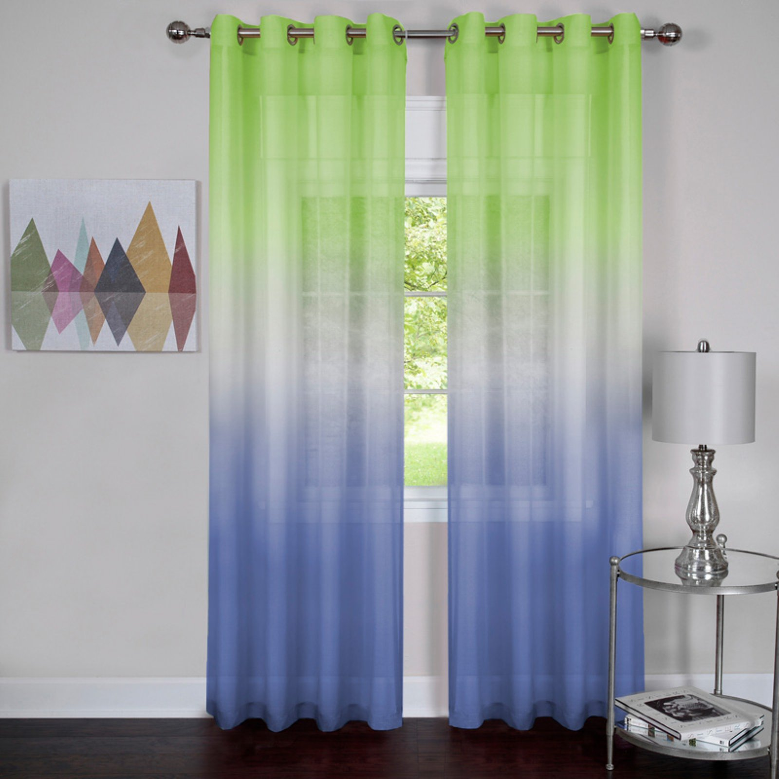 Rainbow Single Grommet Curtain Panel by Achim Importing Co. Inc