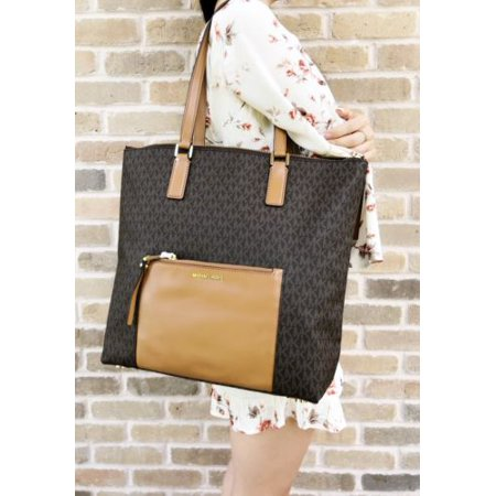86b5e615b6d4 Michael Kors Ariana Large North South Tote Handbag Brown MK Signature -  Walmart.com