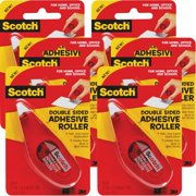 """Scotch Double-Sided Adhesive Roller-.27""""X8.7yd, Multipack Of 6"""