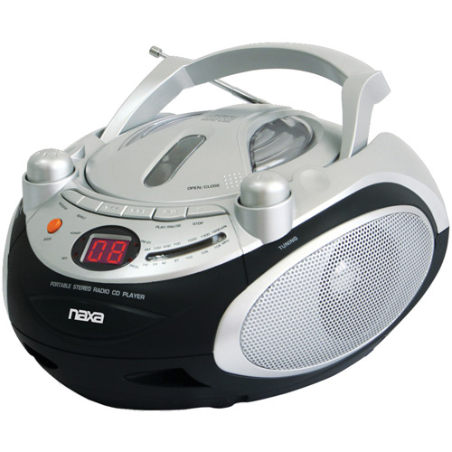 Naxa NPB245 Portable CD Player and AM/FM Radio