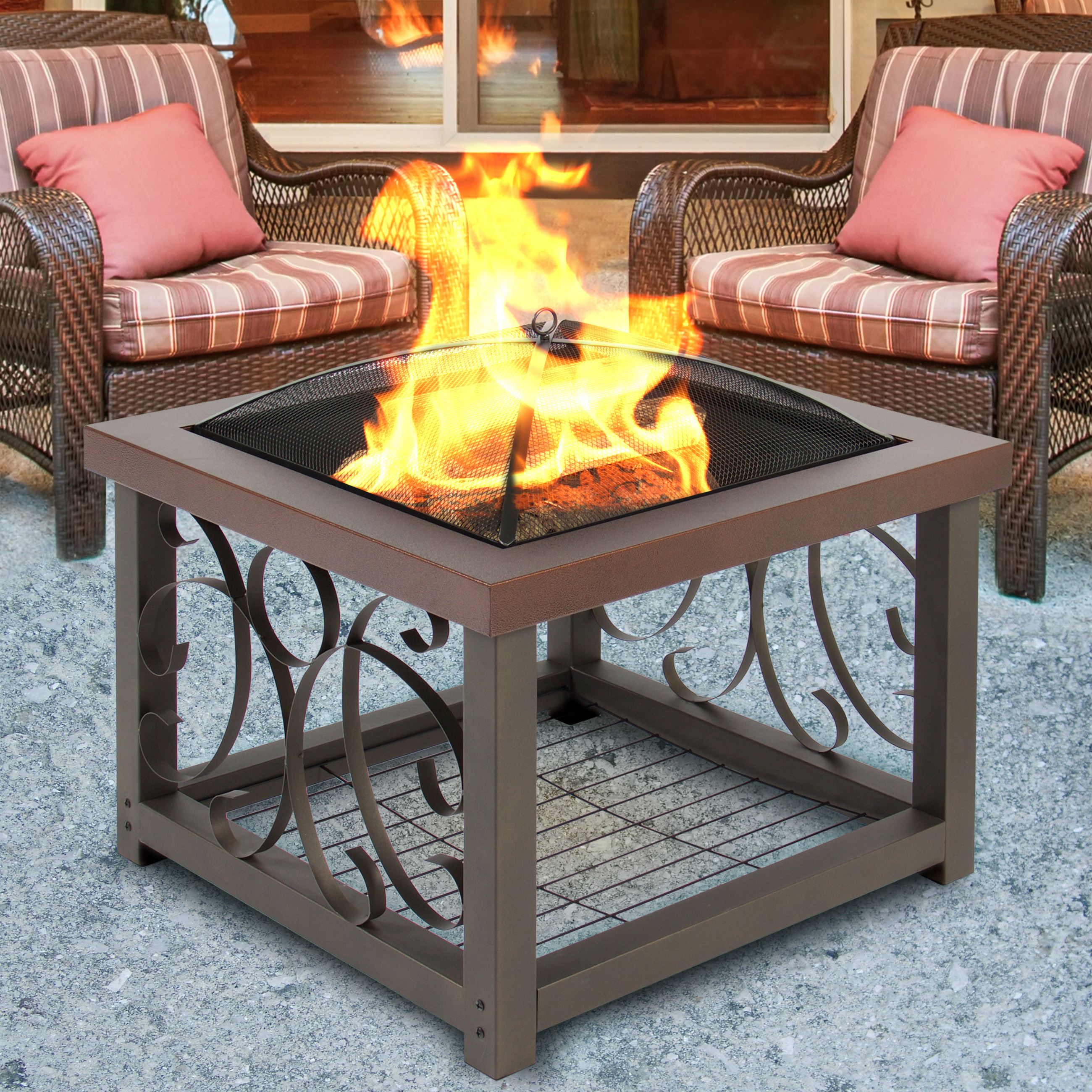 Attirant Best Choice Products Outdoor Fire Pit Table Firepit Patio Garden Stove  Fireplace