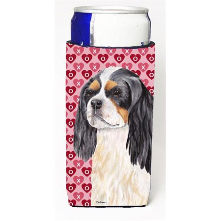Carolines Treasures SC9248MUK Cavalier Spaniel Hearts Love and Valentines Day Portrait Michelob Ultra bottle sleeve for Slim Can - image 1 of 1
