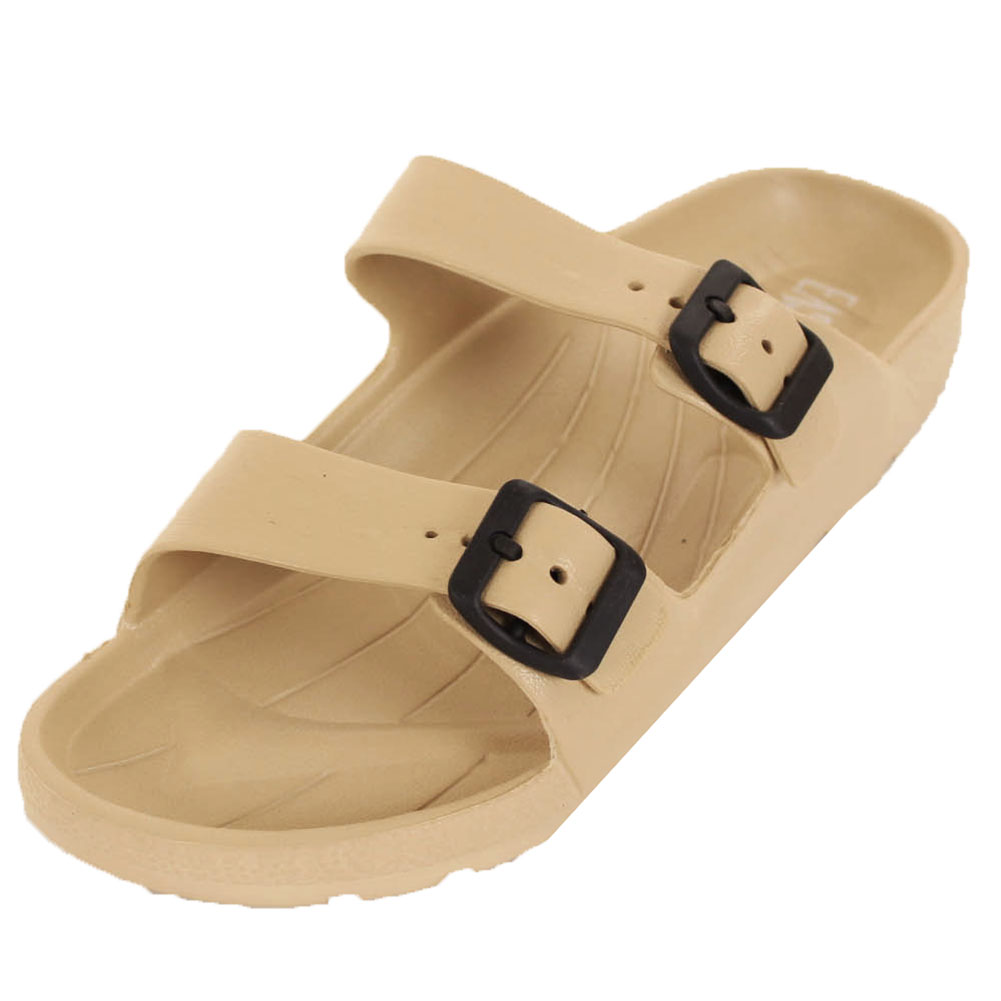 Easy USA Men's Classic Double Strap Buckle Sandals