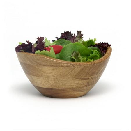 Lipper International Oak Finish Small Wavy Rim Bowl Wavy Rim Bowl Set