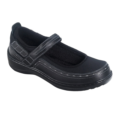 Orthofeet Chicksaw Mary Jane Hook & Loop Womens Casual Shoes