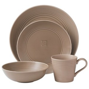 MAZE TAUPE - 4-PIECE PLACE SETTING  DINNERWARE