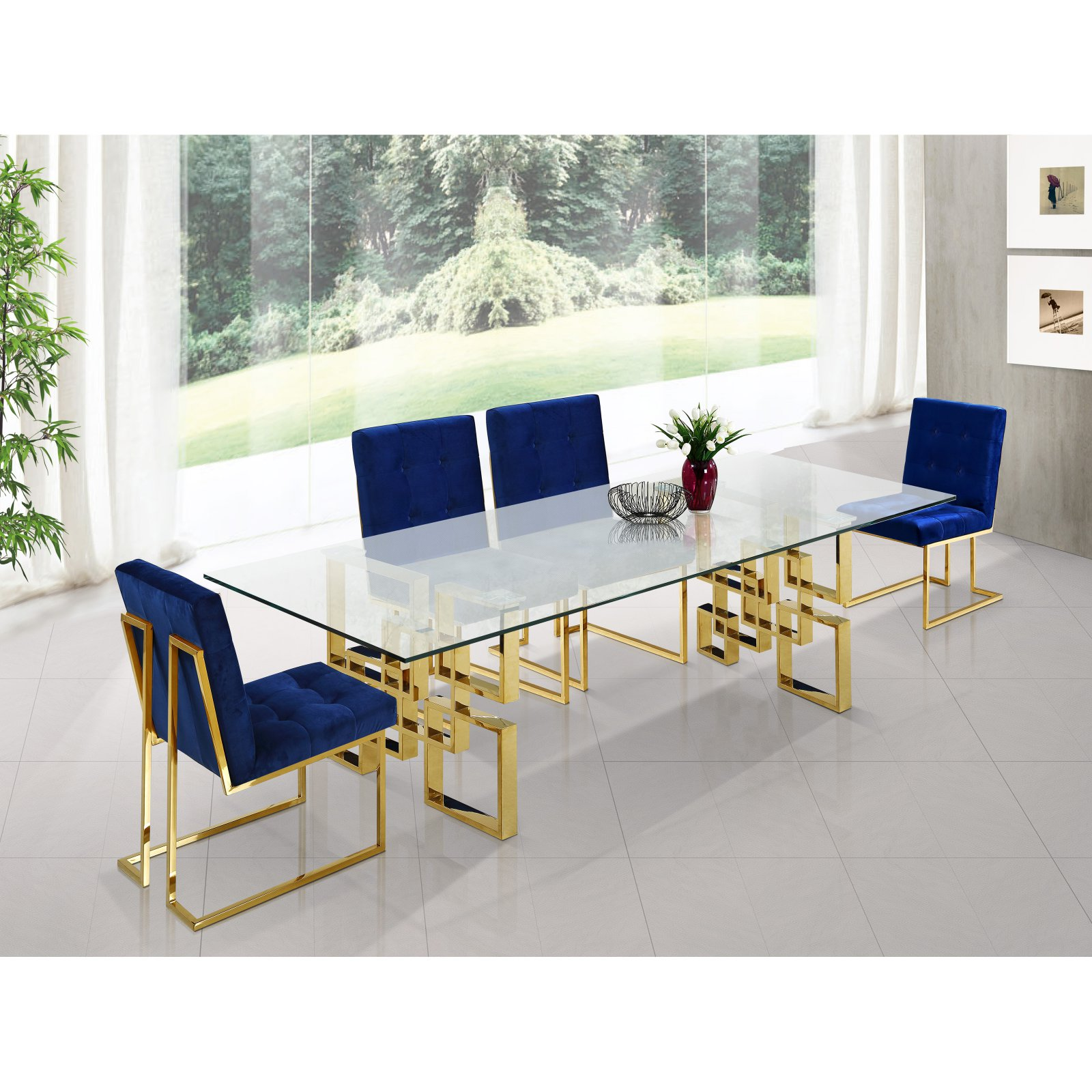 Meridian Furniture Inc Pierre Gold Dining Table
