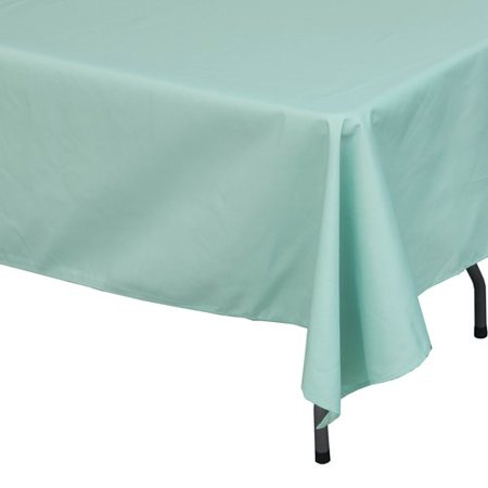 Shindigz Polyester Rectangle Tablecloth, Mint Green