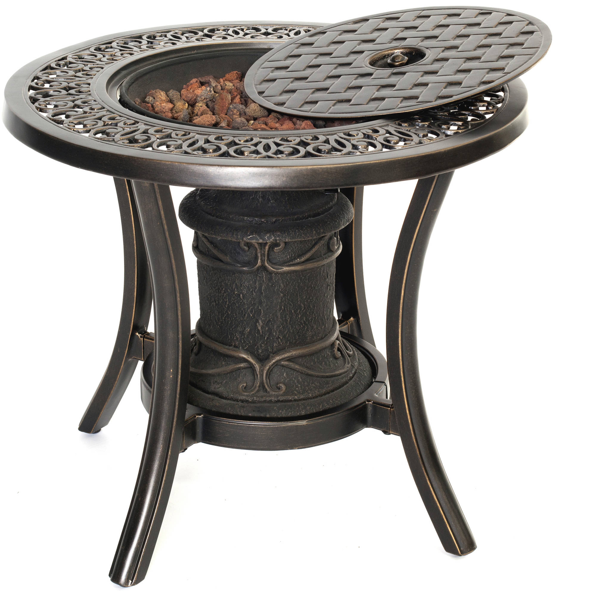 Hanover Outdoor 10,000 BTU Cast-Top Firepit Side Table by Hanover Outdoor