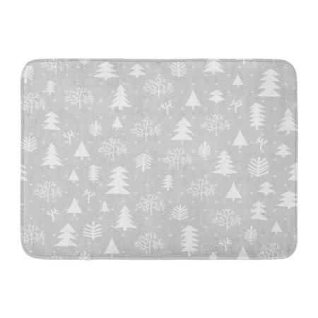GODPOK Tree White Snow Winter Forest Christmas Silver Xmas Noel Rug Doormat Bath Mat 23.6x15.7 inch](Winter Door Decorations For Classrooms)