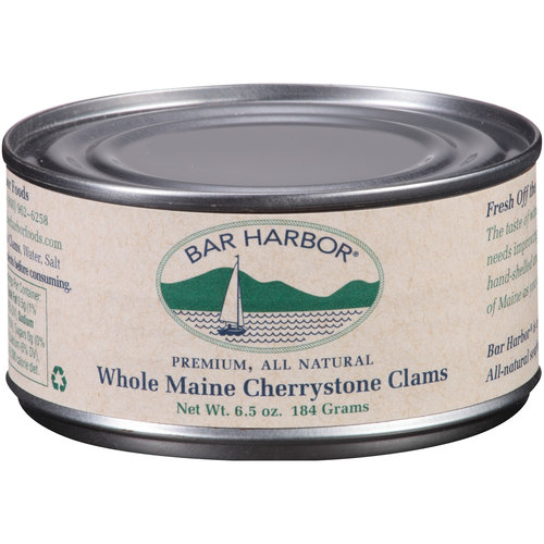 Bar Harbor Premium, All Natural Whole Maine Cherrystone Clams, 6.5 oz