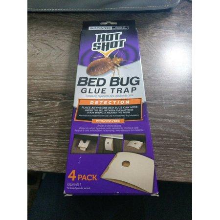 HOT SHOT Bed Bug Glue Traps- 4 Pack Detection Pesticide Free Bedbugs - Brand