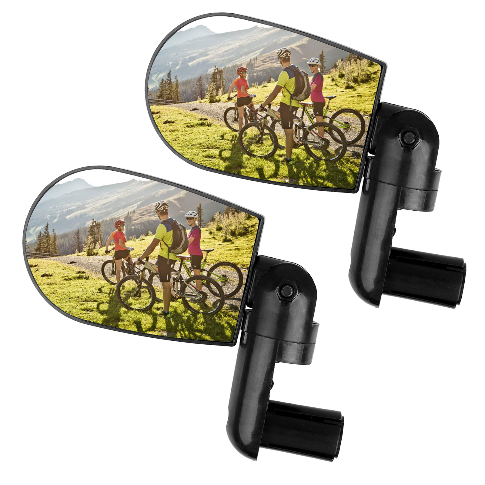 2-pack 360° Rotatable Flexible Handlebar Rearview Mirror for Bike MTB Bicycle Cycling Mirror Accessories