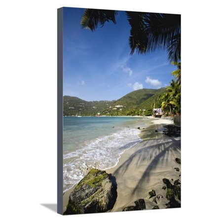 Tropical Beach, Cane Garden Bay, Tortola Island, British Virgin Islands Stretched Canvas Print Wall Art By Massimo -
