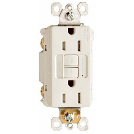 1597NTLTRWCC4 15 Amp/125V Duplex Tamper Resistant GFCI Receptacle/Nightlight, Conducts an automatic test every three seconds..., By Legrand-Pass & Seymour Ship from (Automatic Outlet)