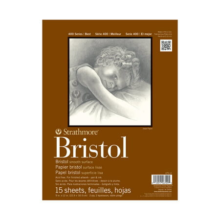 Strathmore Bristol Paper Pad, 400 Series, Smooth, 9