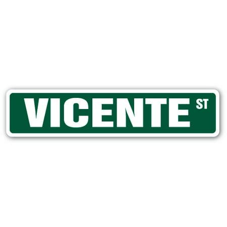 VICENTE Street Sign name kids childrens room door bedroom girls boys gift