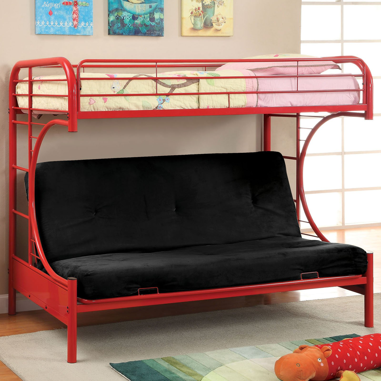 Ravens Contemporary Twin over Futon Bunk Bed