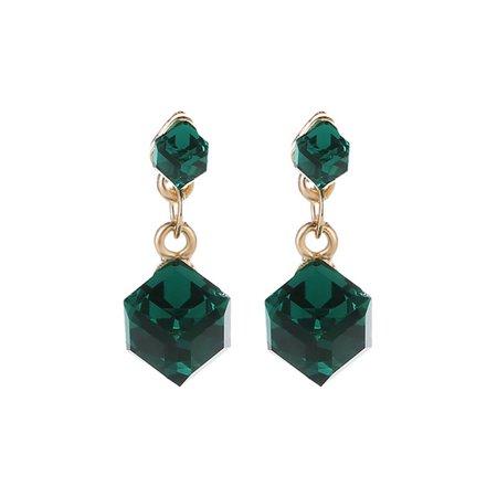 Wholesale Fashion Earrings - Fancyleo Exquisite Crystal Water Cube Box Cube Stone Fashion Earrings Jewelry Wholesale Earrings For Women Oorbellen