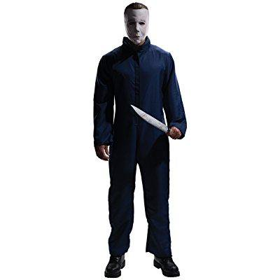 rubie's costume halloween movie complete michael myers adult, blue, x-large costume