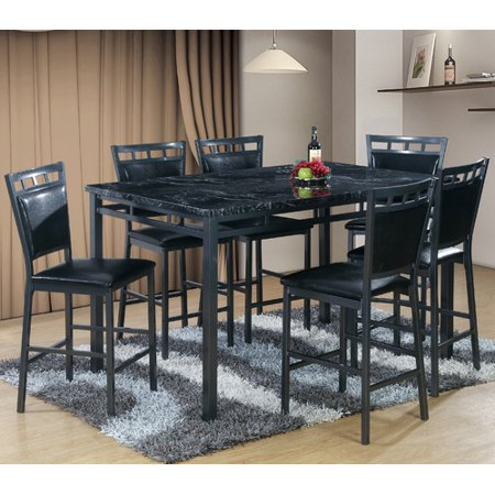 Best quality furniture 7 piece counter height dining table for Best quality dining tables