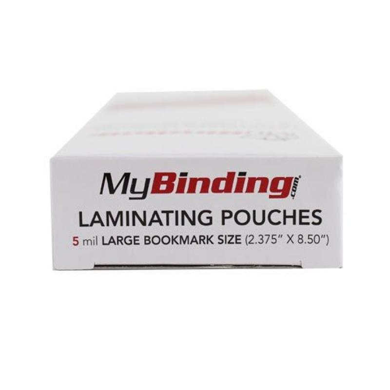 """5MIL Large Bookmark 2-3 8"""" x 8-1 2"""" Laminating Pouches 100pk MyBinding LKLP5LGBOOKMARK Clear by"""