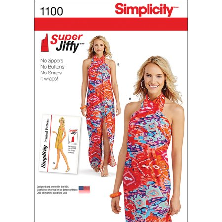 Simplicity Misses' Size XXS-XXL Super Jiffy Cover Up Dresses Pattern, 1 - Simplicity A-line