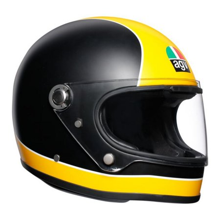 AGV Legends X3000 Super Motorcycle Helmet Matte Black/Yellow