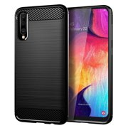 "Samsung Galaxy A50 Case, Dteck Soft TPU Brushed Anti-Fingerprint Protective Phone Case Cover for Samsung Galaxy A50 2019 6.4""(Black Brushed TPU)"