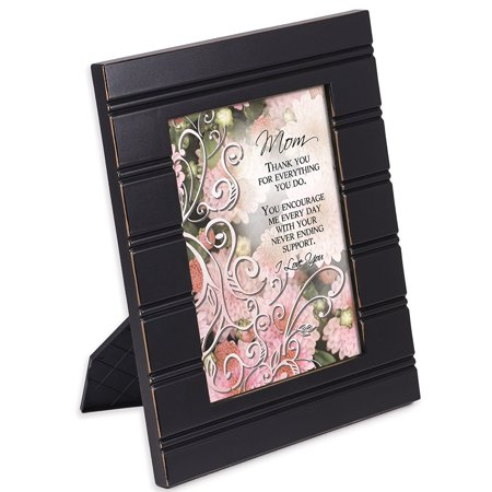 Mom, Mother Black 5x7 Photo Frame, Inner Opening Holds 5 x 7 Photo Allowing Your Own Personal Image By Cottage
