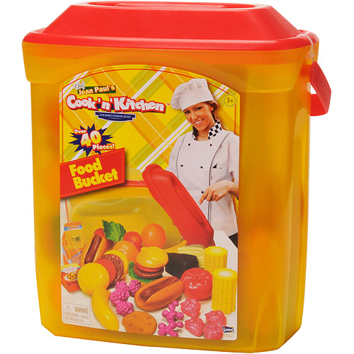 Cook N' Kitchen Gourmet Food Bucket 40-Piece Play Set