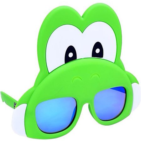 Sun-Staches Yoshi Novelty Costume Sunglasses, One Size](Riding Yoshi Costume)