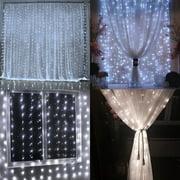 TORCHSTAR 9.8ft x 9.8ft LED Curtain Lights, Starry Christmas String ...