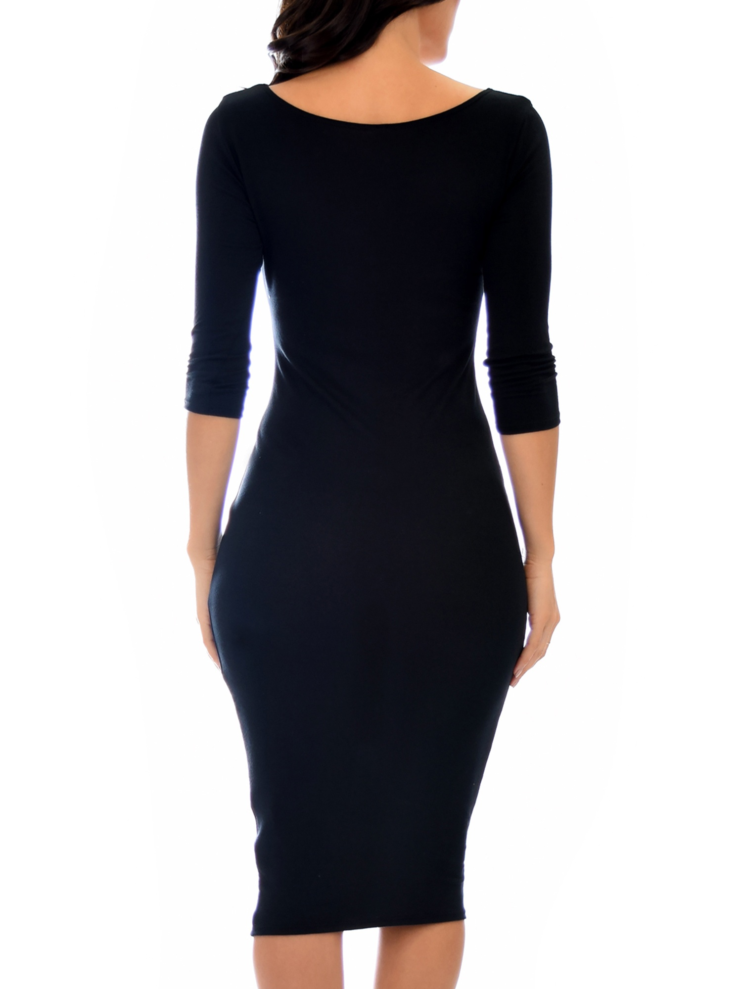178bc81002b2 Lyss Loo - Lyss Loo Women's True 2 You 3/4 Sleeve Midi Dress - Walmart.com