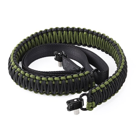 Gonex Gun Sling 550 Paracord Rifle Sling Adjustable with Swivel, Tactical Gun Sling for Hunting Camping