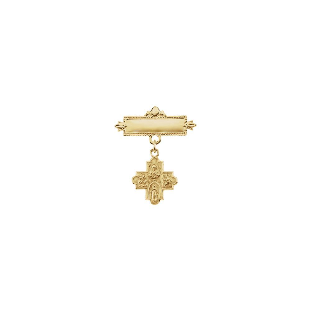 Roy Rose Jewelry 10k Tri-Color Gold Black Hills Gold RN Registered Nurse Pin ~ length 8.47 inches