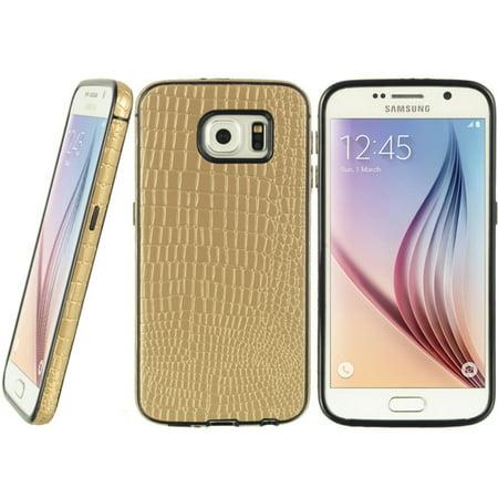 Genuine Crocodile Skin Leather (Samsung Galaxy S6 Case, by Insten Crocodile Skin Leather Case Cover For Samsung Galaxy S6)