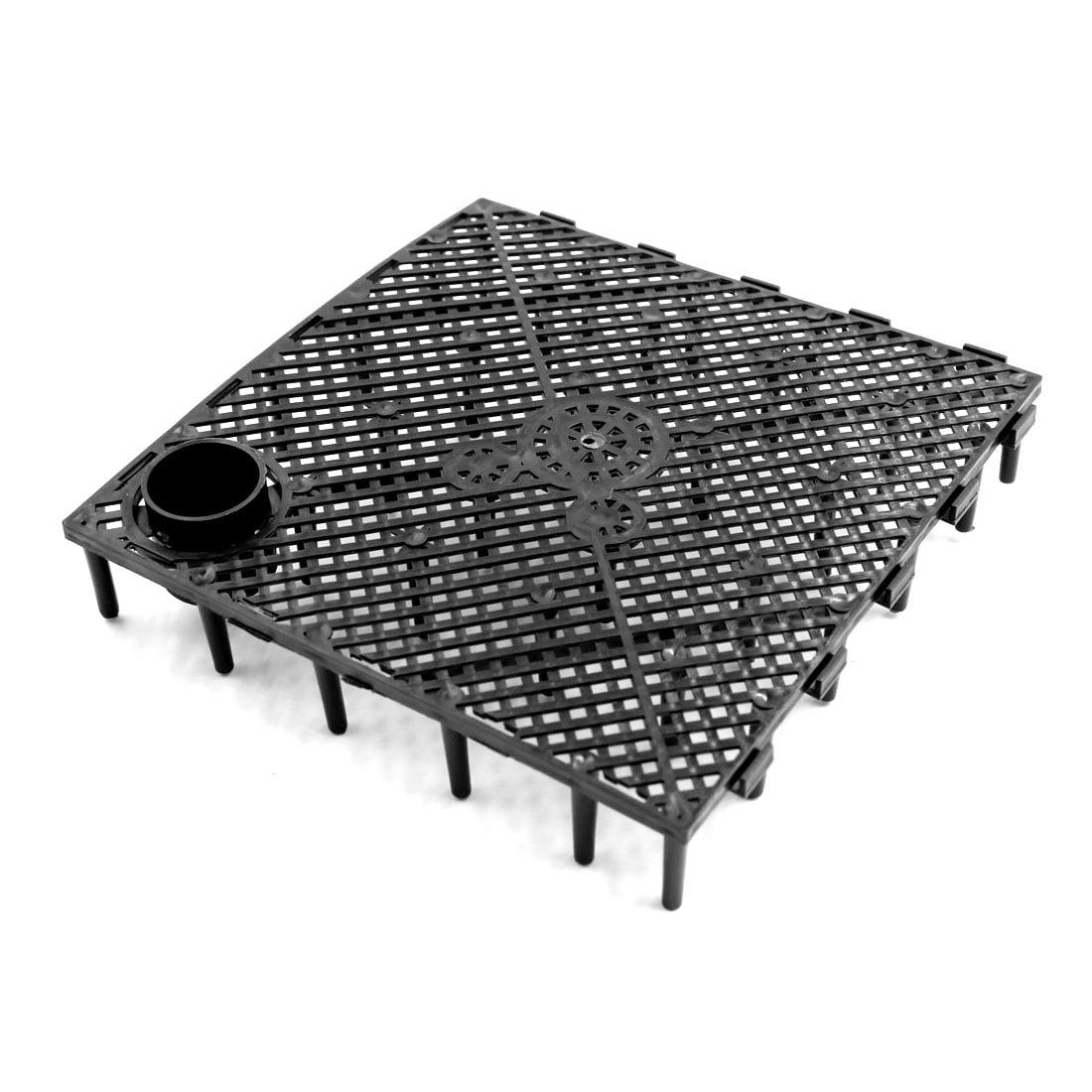 3pcs Black Plastic Separation Board Filtration Grid Plate Fish Tank Accessories