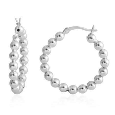 925 Sterling Silver Strand Hoops, Hoop Earrings for Women Hypoallergenic Gift Jewelry