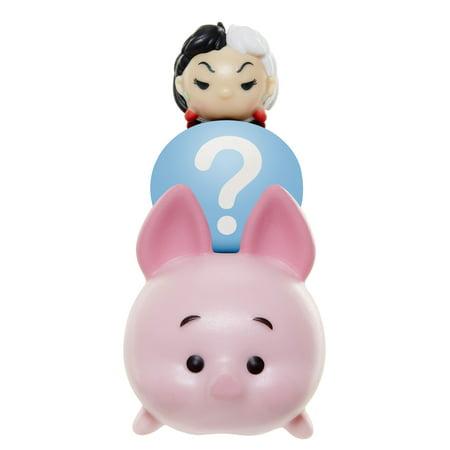 Tsum Tsum 3-Pack Figures - Piglet/Hidden/Cruella - Disney Cruella De Vil