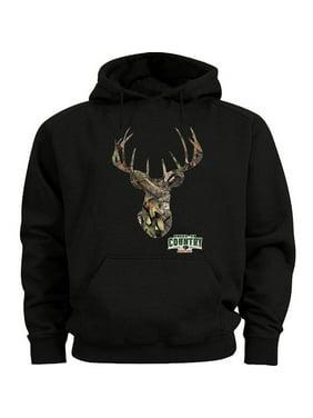 Mossy Oak Deer Hoodie Men's Sweatshirt Black