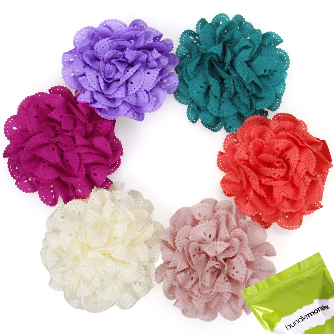 Bundle Monster Baby Girl Soft Perforated Peony Flower Headband Hair Accessories