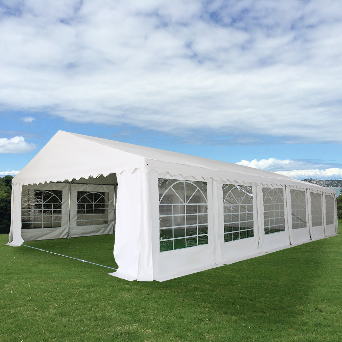 Costway 20'X40' Wedding Tent Shelter Heavy Duty Outdoor Party Canopy Carport White by Costway