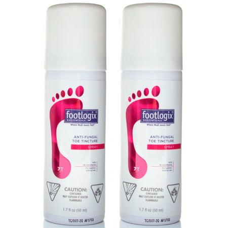 Footlogix Toe Nail Tincture 1.7 fl. oz - Pack of 2 (Simple Halloween Toe Nail Designs)
