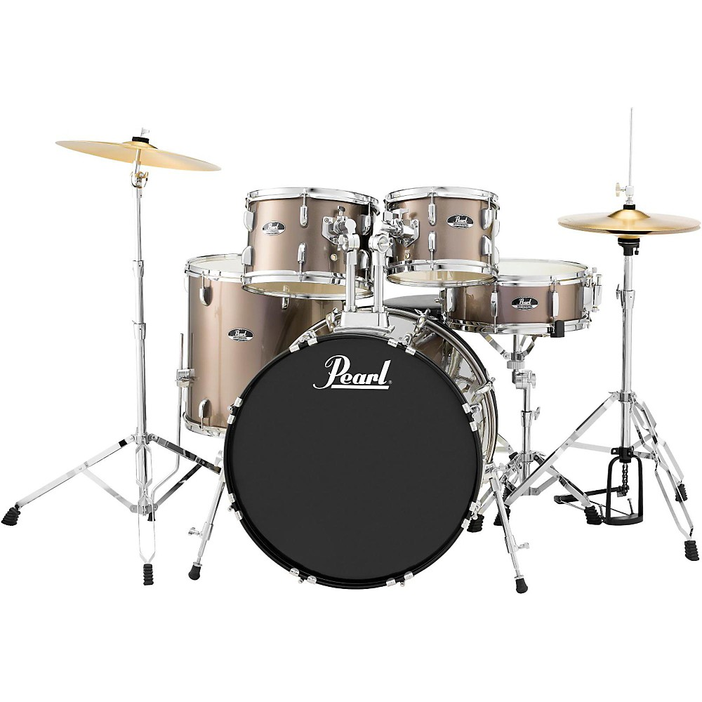 Pearl Roadshow 5-Piece New Fusion Drum Set Bronze Metallic by Pearl