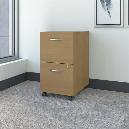 Bush Business Furniture Series C 2 Drawer Mobile File Cabinet in Oak - image 5 of 6