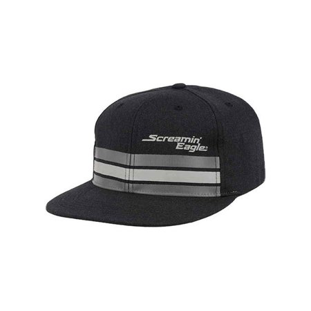Harley-Davidson Men's Screamin' Eagle Streamline Flat Bill Flex Cap HARLMH0305, Harley - Flat Flex Cap