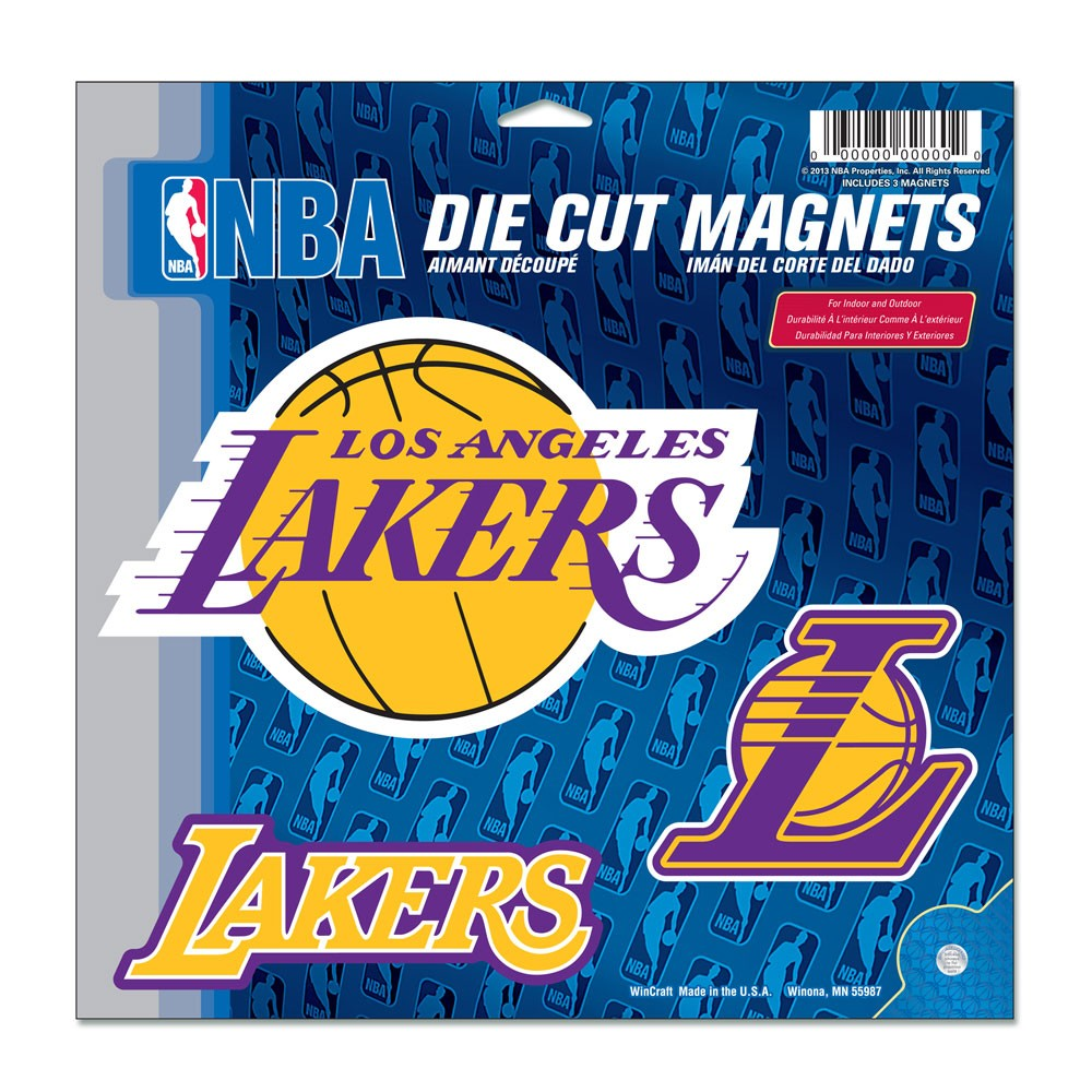 Los Angeles Lakers Official NBA 11 inch x 11 inch  Car Magnet by WinCraft