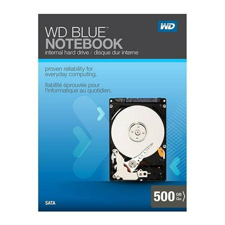 wd blue notebook 500gb sata 3.0 gb/s 2.5-inch internal notebook hard drive retail kit ()
